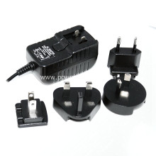 interchangeable international plug switching power adapter